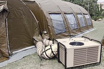 Climatisation militaire : tentes et logements provisoires