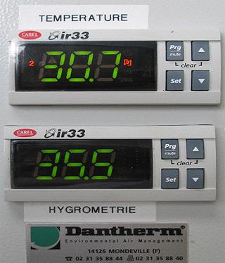 Réglage température & Hygrométrie